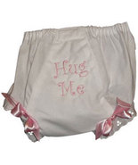 """Embroidered Baby Girls """"Hug Me"""" Diaper Cover, Baby Bloomers   - $15.00"""