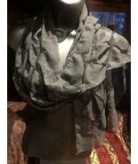 Vintage Style Black Scarf Beaded Chiffon - $37.64