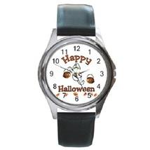 Happy Haloween Unisex Round Metal Watch Gift mo... - $13.99
