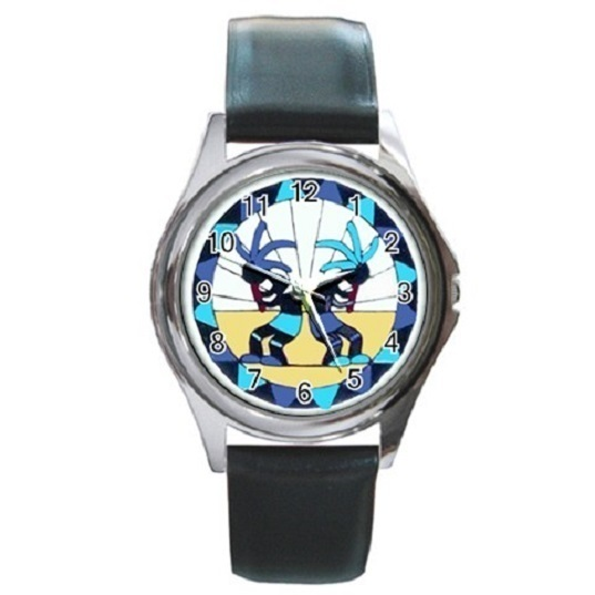 Kokopelli Unisex Round Metal Watch Gift model 36408022