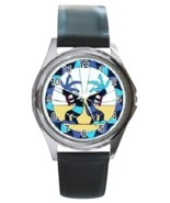 Kokopelli Unisex Round Metal Watch Gift model 36408022 - $270,41 MXN