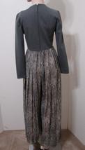Palazzo Pant Jumpsuit Vintage 70's Saks Fifth Ave Grey Snakeskin Print M... - $269.99