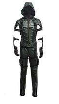 Green Leather Arrow Enhanced Version Full Sets Cosplay Costume - $199.99+