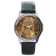 Lincoln Wheat 1909 Penny Cent Coin Unisex Round Metal Watch Gift model 3... - $13.99