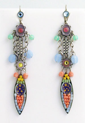 Primary image for Signed ADAYA Maya Micro Mosaic Clip On Earrings