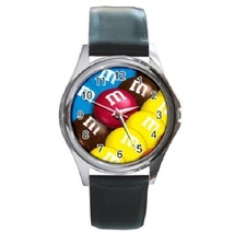 MM Chocolate Candies Unisex Round Metal Watch Gift model 16970948 - $13.99