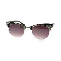 Womens Animal Print Metal Top Sunglasses Round Cateye Fashion - $7.95