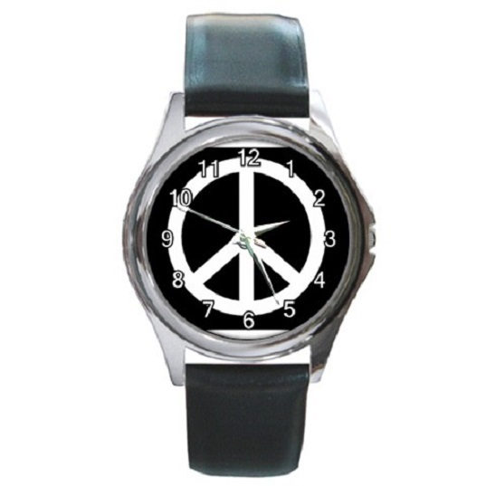 Peace Sign Unisex Round Metal Watch Gift model 17660249