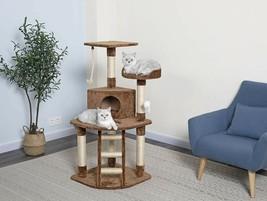 Go Pet Club Cat Tree Condo House, 32W x 25L x 47.5H Inches Brown - $63.74