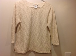 Talbots Ivory Scoop Neck Pullover Sweater Sz M/P - $59.39