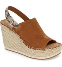 Dolce Vita Shan Wedge Brown Suede Platform Sandal Size 8 M - $78.39
