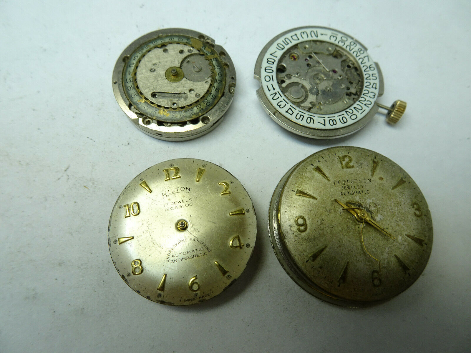 Primary image for 4 vintage STOWA HILTON UT-26 CASINO automatic watch movements for repair parts