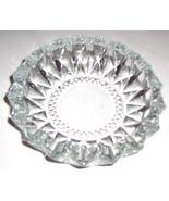 KIG Indonesia Large Crystal Like Dimensional Cut Clear Glass Ashtray - $35.00