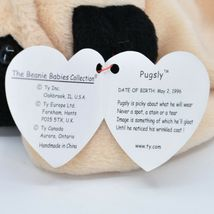 1996 TY Beanie Baby Original Pugsly the Pug Dog Retired Beanbag Plush Toy image 7