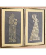 Lady Margaret & Sir Thomas Peyton Framed Brass ... - $271.95