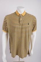 Polo by Ralph Lauren Men's Polo Shirt XL Yellow Navy White Striped Short... - $22.76