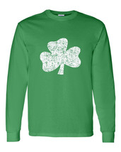 St Patrick Day Pat's Distressed Shamrock Crew Sweatshirt 1581 - $15.79+
