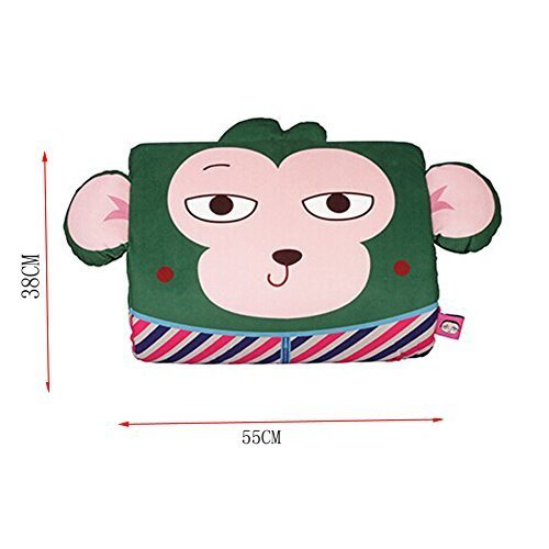 Cartoon Monkey Breathable Lumbar Support/Back Cushion Memory Foam, Green
