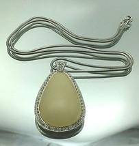 Hattie Carnegie Parade Lucite Pear Shaped Pendant W/Rhinestones~L@@K~Gif... - $94.89