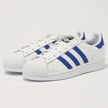 BZ0197 Men's Leather Trainers White Originals Shoes Adidas Blue Superstar nxPw18qT