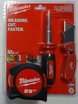 Milwaukee Tool 48-22-5525D 3pc Tape Measure Cut Fasten Set  - $30.69
