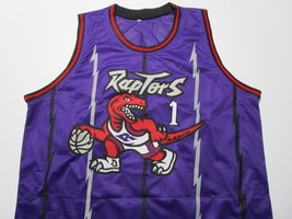 TRACY MCGRADY / HALL OF FAME / AUTOGRAPHED TORONTO RAPTORS CUSTOM JERSEY / COA image 2