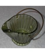 Green Glass Coal Shuttle, West Virginia Souveni... - $5.95