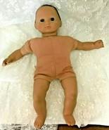 "American Girl Bitty Baby Doll 15"" Dark Hair Dark Eyes Original Outfit So... - $28.05"