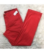 Gap Men's NWT Red The Lived in Slim Pants Size W30 L30 - $22.49