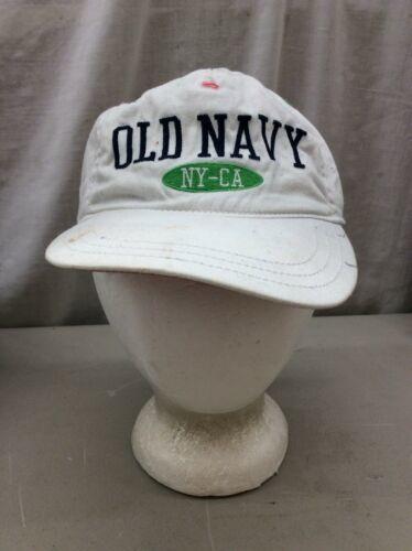 Trucker Hat Baseball Cap Vintage OLD NAVY NY CA KIDs L/G/G White fitted Retro