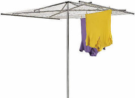 210-Ft. Rope Arm Aluminum Outdoor Clothes Dryer - $79.19
