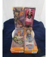 FOUR DIFFERENT BARBIE HALLOWEEN DOLLS NEW IN BOXES !! - $69.95