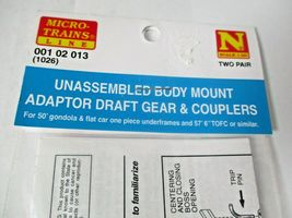 Micro-Trains Stock #00102013 (1026) Unassembled Body Mount Adaptor Draft Gear  image 3