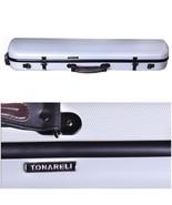 Tonareli Violin Oblong Fiberglass Case - Pearl Graphite 4/4 VNFO 1014 - $265.00