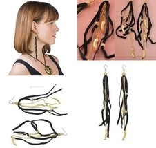 Wholesale 10pc Lot Disney Couture Blk LEATHER/FEATHER Charms EARRINGS**$22 Each! - $220.00