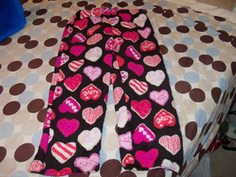 Black PJ Pants with hearts Size Small (6/6X) Girl's NEW HTF - $17.80