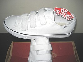 70ffc996bdd296 Vans Mens Style 23 V Canvas True White Skate Casual shoes size 12 Straps.