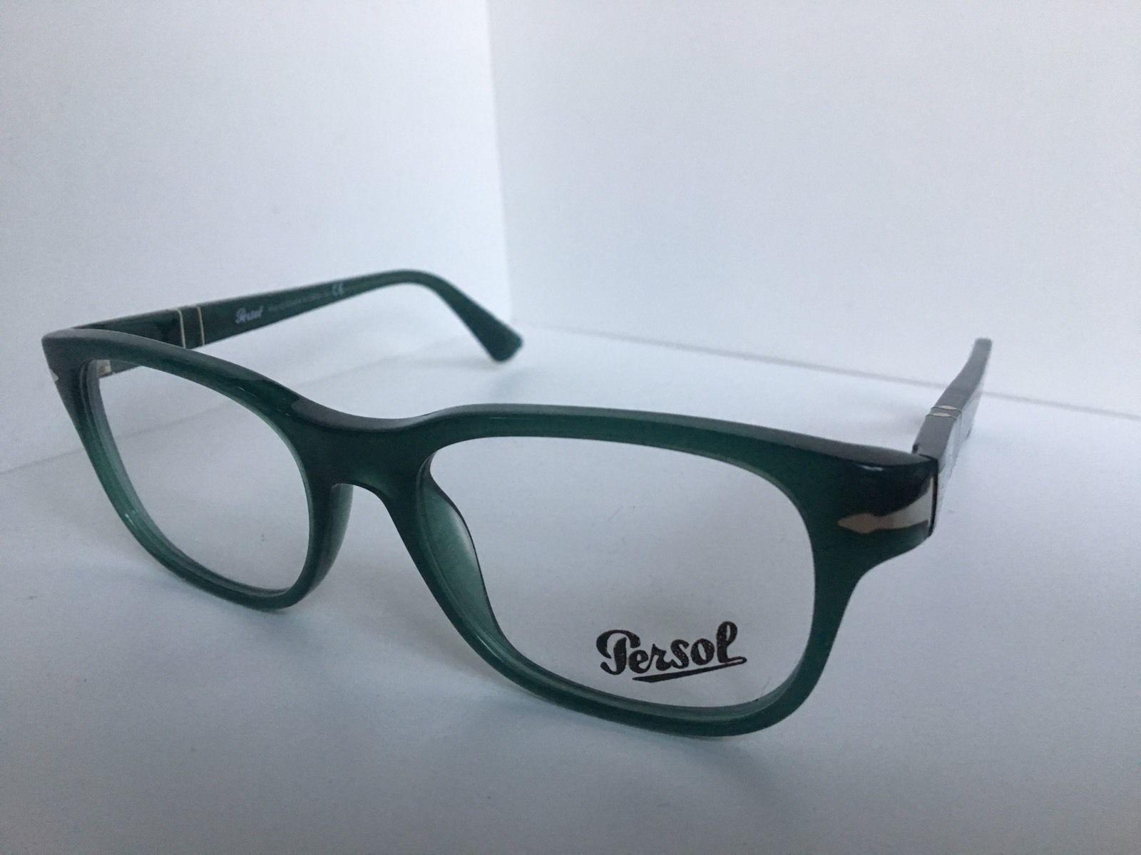 New Persol 3095-V 1001 Polished Green 53mm Rx Men's Eyeglasses Frame Italy