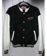 Chevrolet HEARTBEAT OF AMERICA Black Wool &Faux Leather Varsity Bomber J... - $48.45