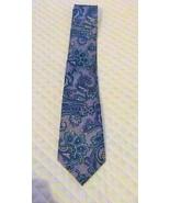 Countess Mara Naples Print Paisley Tie, Aqua/Gray - $12.52