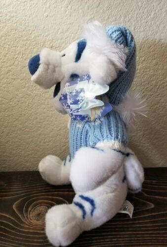 "TIGGER Disney Store Winnie the Pooh  White Plush Blue Sweater Christmas 13"" image 3"
