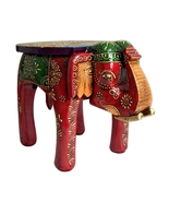 Wooden Colored Designer Large Stool Elephant home Decor. Decorative Stoo... - $168.99