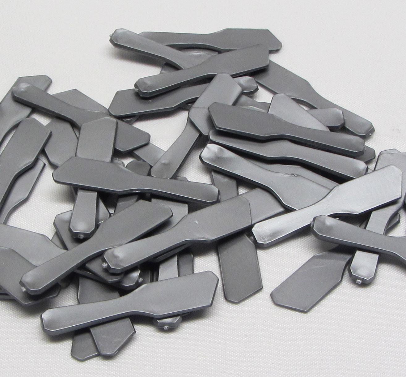 200 Cosmetic Mini Spatulas Makeup Mixing Tool Silver Grey Plastic Scraper #5002