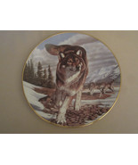 YEAR OF THE WOLF collector plate LEADER OF THE PACK  Al Agnew WOLVES Ham... - $19.99