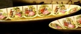 Pair of Decorative Oval Trays with 12 Beautiful Pictures of Couples Courting image 6