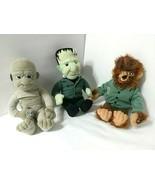 "Lot 3 Universal Studios Monsters 1999 Plush Stuffins Halloween 9"" - $37.12"