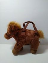 "Unipak Horse Shoulder Bag Plush Kids Children Stuffed Animal 9"" Purse 2012 - $13.85"