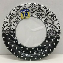 """Wedding or Engagement Party 10-1/2"""" Plates Damask & Dots Pattern - $8.09"""