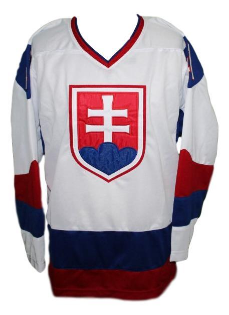 Jaroslav Halak Team Slovakia Retro Hockey Jersey New White Any Size