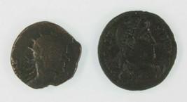 Antiguo Romano Empire 2-Coin Juego Emperador Claudio II Gothicus & Valens - $49.50